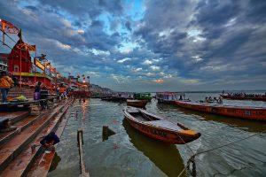 boat ride in ganges river