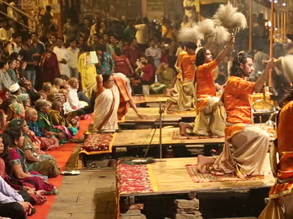 Evening Boat ride on river Ganges and Arti Ceremony in Varanasi